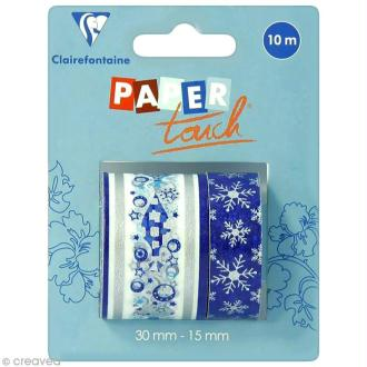 Masking tape Clairefontaine - Nuit polaire 2 - 2 rouleaux assortis
