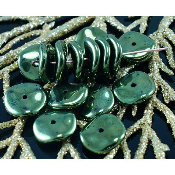 12pcs Rectangle de Verre tchèque Perles de 8mm x 12mm