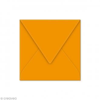 Enveloppe Pollen 120 x 120 mm - Orange capucine - 20 pcs
