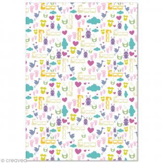 Papier Pollen imprimé A4 Evènement - Doudou - 10 feuilles