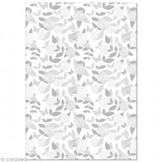 Papier Pollen imprimé A4 Evènement - Fleurs et papillons - 10 feuilles
