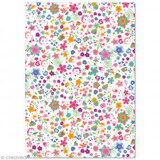 Papier Pollen imprimé A4 Evènement - Fleurs Liberty - 10 feuilles