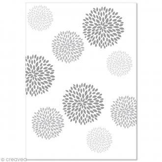 Papier Pollen imprimé A4 Evènement - Fleurs rondes - 10 feuilles