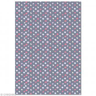 Papier Pollen imprimé A4 Evènement - Galets - 10 feuilles