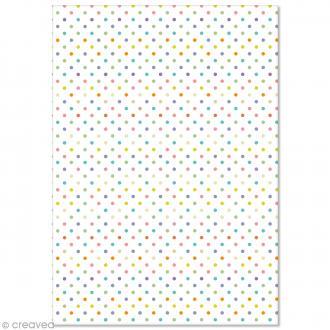 Papier Pollen imprimé A4 Evènement - Pois - 10 feuilles