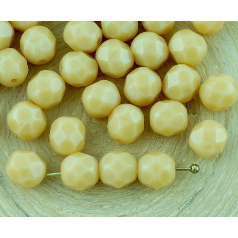 marron//beige 10 Tchèque Perles De Verre