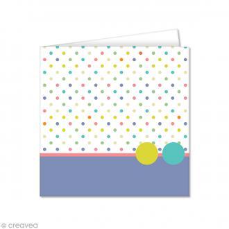 Carte double Pollen imprimée 135 x 135 mm - Pois - 10 pcs