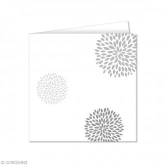 Carte double Pollen imprimée 160 x 160 mm - Fleurs rondes - 10 pcs