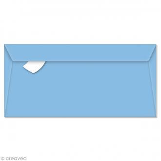 Enveloppe Pollen 110 x 220 mm - Bleu lavande - 5 pcs