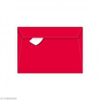 Enveloppe Pollen 114 x 162 mm - Rouge groseille - 5 pcs