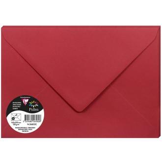 Enveloppe Pollen 162 x 220 mm - Rouge groseille - 5 pcs