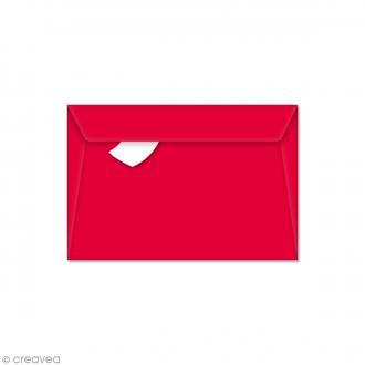 Enveloppe Pollen 90 x 140 mm - Rouge groseille - 5 pcs