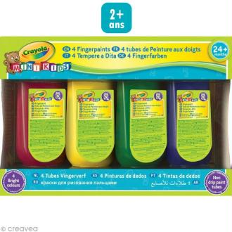 Peinture aux doigts - Crayola Mini Kids - 4 x 147 ml