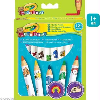 Crayons de couleur maxi - Crayola Mini Kids x 8