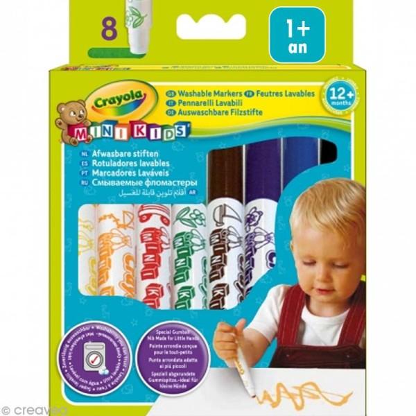 Feutres bébé - Crayola Mini Kids x 8 - Photo n°1
