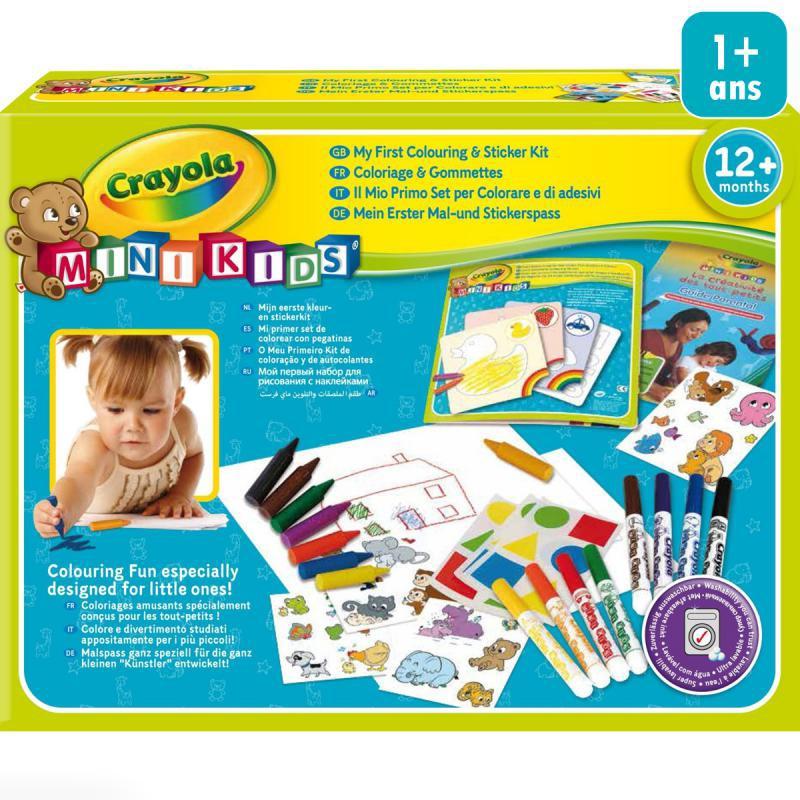 mon premier coffret de coloriage et de gommettes crayola mini kids boutique acheter loisirs creatifs