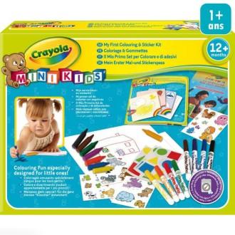 Mon premier coffret de coloriage et de gommettes - Crayola Mini kids