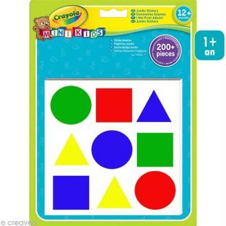 Gommettes géantes Géométriques - Crayola Mini Kids x 200