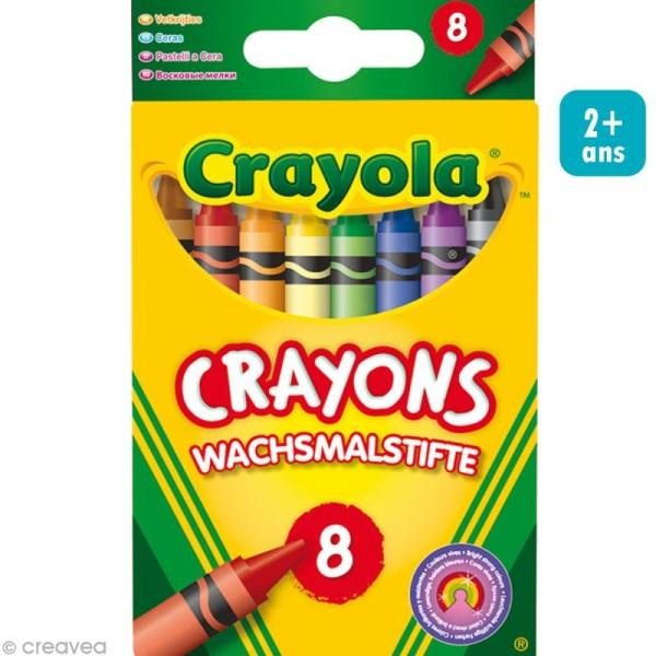 Crayons à la cire - Crayola x 8 - Photo n°1