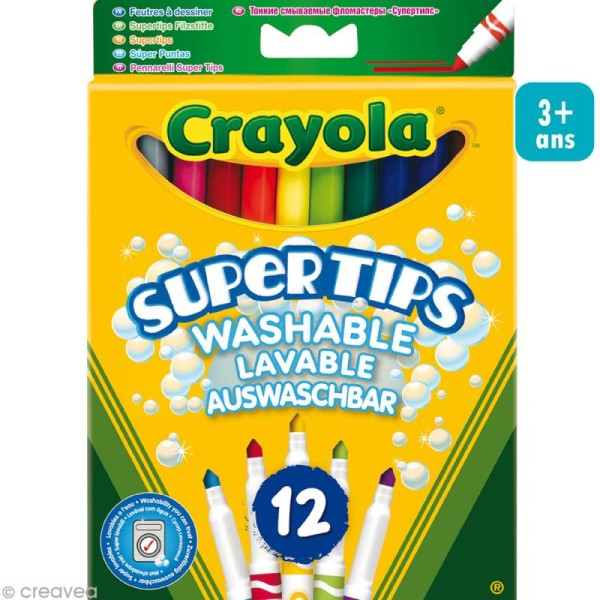 Feutres lavables - Crayola x 12 - Photo n°1