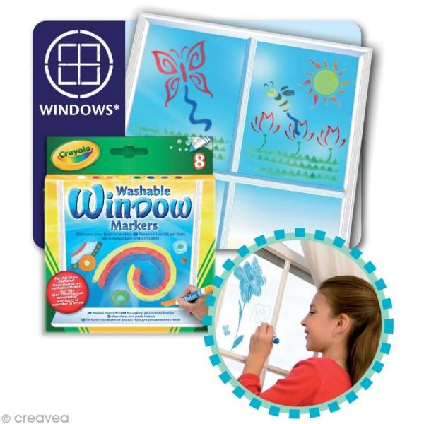Feutres pour fenêtre lavables - Crayola x 8 - Photo n°2