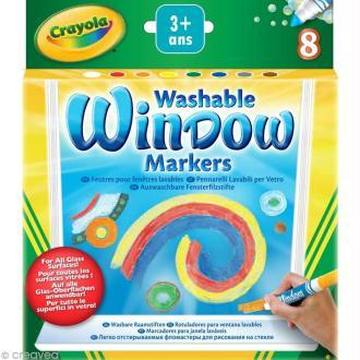 Feutres pour fenêtre lavables - Crayola x 8
