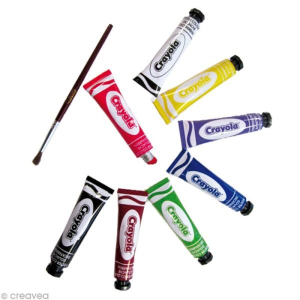 Boîte de 8 tubes de gouache lavable 12 ml Crayola - Photo n°2