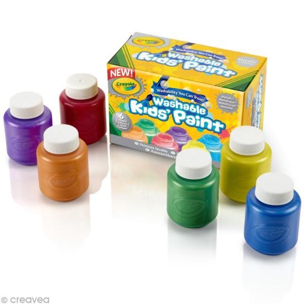 Peinture lavable métallique - Crayola x 6 - Photo n°2