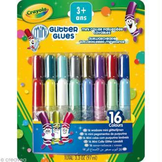 Mini colle pailletée lavable - Crayola x 16