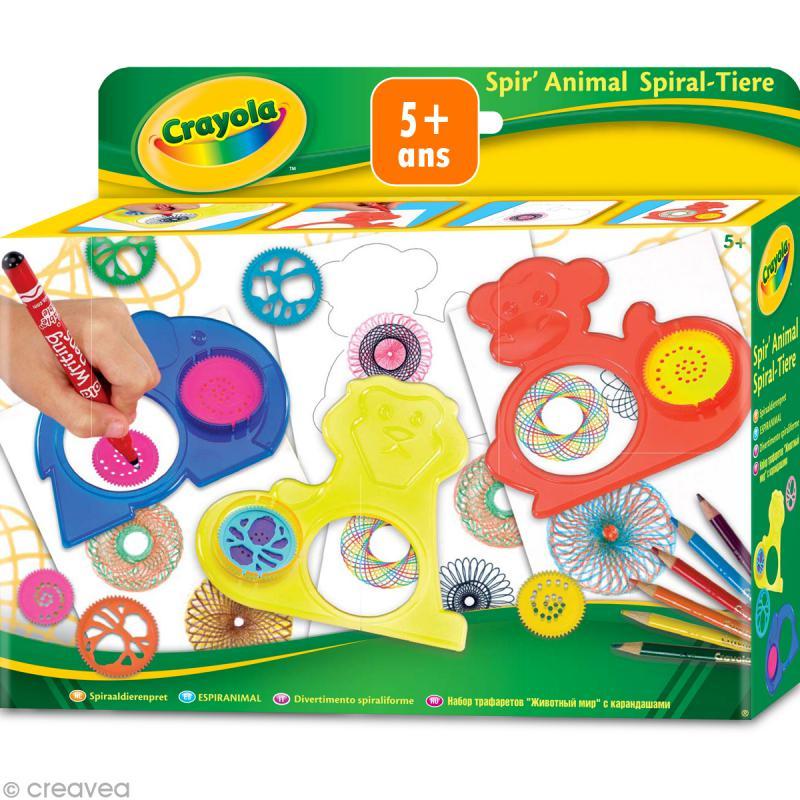 kit spir 39 animal crayola jeux cr atifs de 2 5 ans creavea. Black Bedroom Furniture Sets. Home Design Ideas