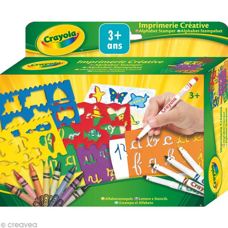 kit imprimerie cr ative crayola jeux cr atifs de 2 5 ans creavea. Black Bedroom Furniture Sets. Home Design Ideas