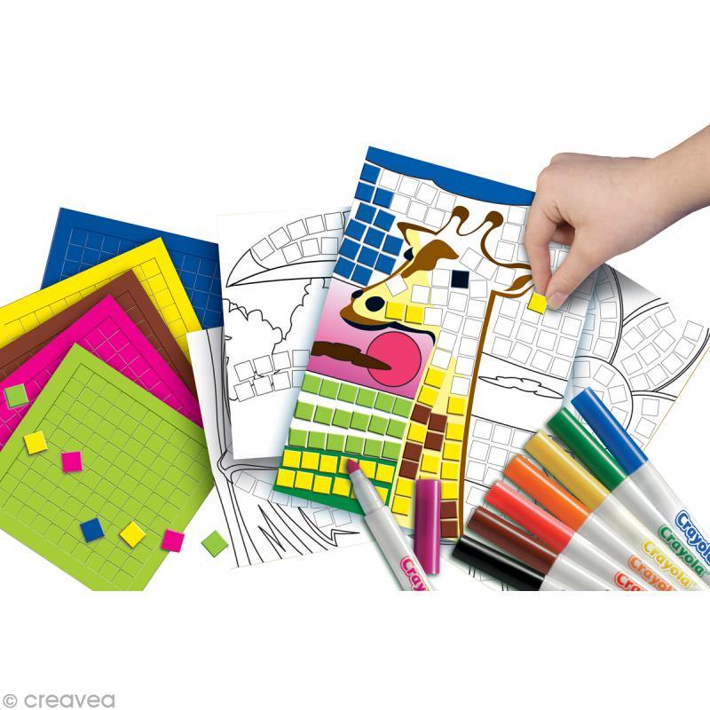 kit jeux de mosa ques crayola jeux cr atifs de 2 5 ans creavea. Black Bedroom Furniture Sets. Home Design Ideas