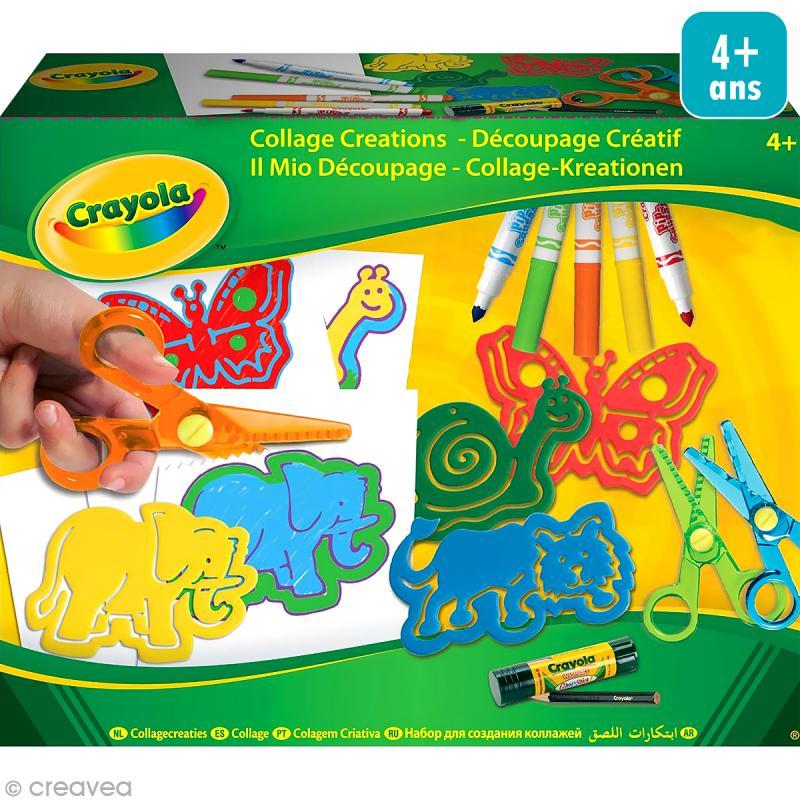 kit de d coupage cr atif crayola jeux cr atifs de 2 5 ans creavea. Black Bedroom Furniture Sets. Home Design Ideas
