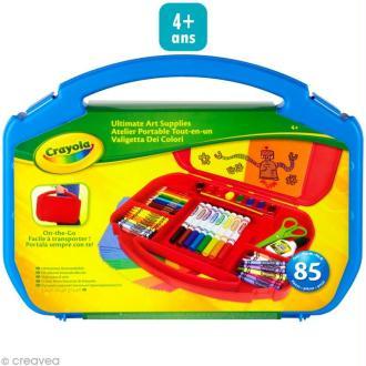 Kit loisirs créatifs - Atelier portable tout en un - Crayola
