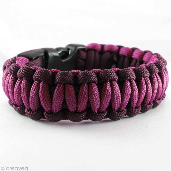 Fermoir à clip Paracord Noir - 32 mm - 2 pcs - Photo n°3