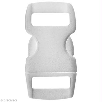 Fermoir à clip Paracord Blanc - 10 mm - 8 pcs