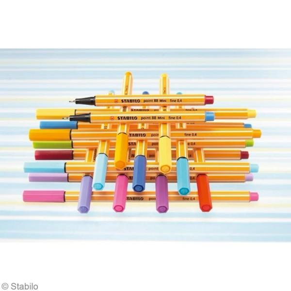 Stylo feutre Stabilo point 88 à l'unité - Pointe fine - 35 couleurs - Photo n°5