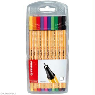 Stabilo point 88 - Pochette de 10 stylos feutres assortis