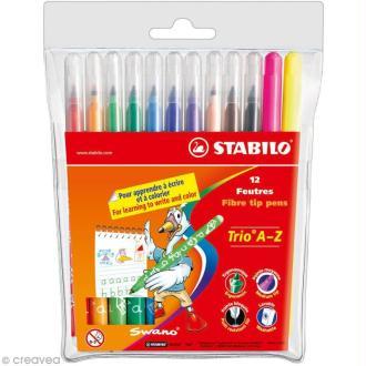 Feutre Stabilo Trio A-Z - Pochette 12 feutres de coloriage