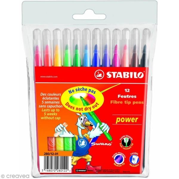Feutre Stabilo Power - Pochette 12 feutres de coloriage - Photo n°1