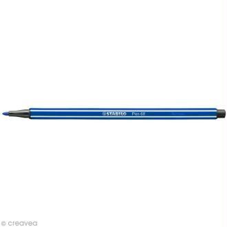 Feutre Stabilo pen 68 - N°32 Bleu outremer