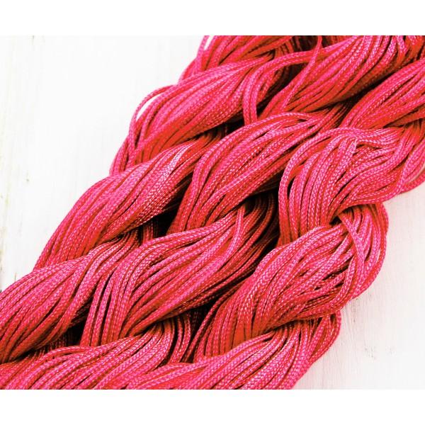 28m 90ft 30yrd Rose Rose Foncé de la corde de Nylon Torsadé Tressé de Perles de Nouage de la Chaîne - Photo n°1
