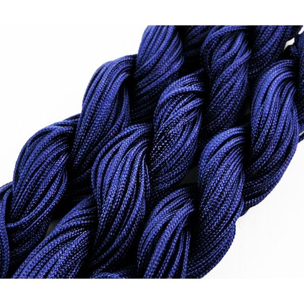 28m 90ft 30yrd Bleu Foncé Nylon Cordon Torsadé Tressé de Perles de Nouage de la Chaîne de Shamballa - Photo n°1