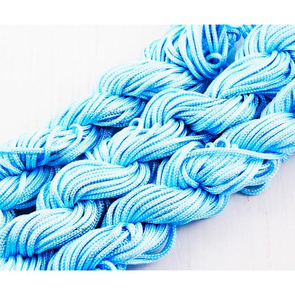 18m 57ft 19yrd Ciel Bleu en Nylon Cordon Torsadé Tressé de Perles de Nouage de la Chaîne de Shamball - Photo n°2