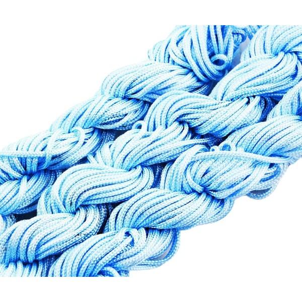 18m 57ft 19yrd Ciel Bleu en Nylon Cordon Torsadé Tressé de Perles de Nouage de la Chaîne de Shamball - Photo n°1