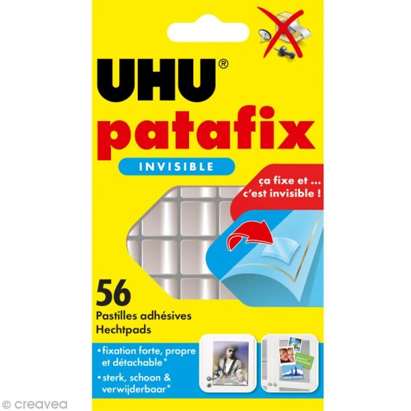 Patafix invisible x 56 pastilles transparentes - Photo n°1