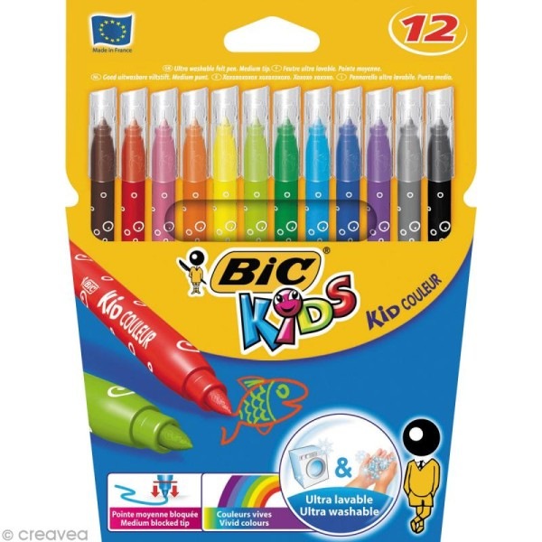 Feutres Bic Kids - Kid Couleur - 12 feutres - Photo n°1