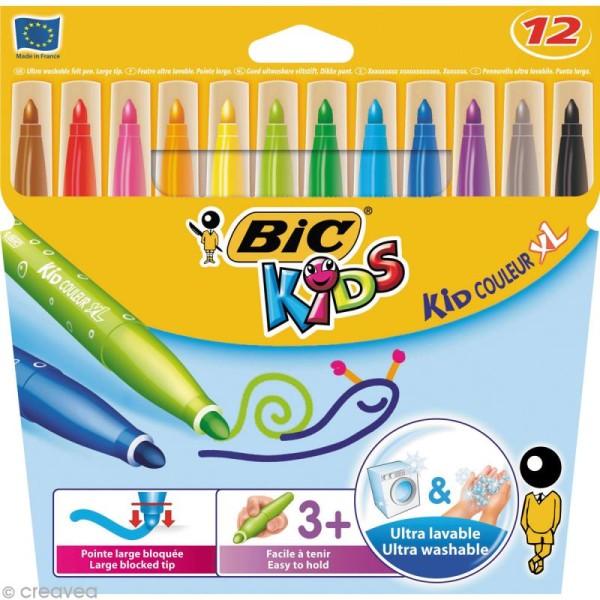 Feutres Bic Kids - Kid Couleur XL - 12 feutres - Photo n°1