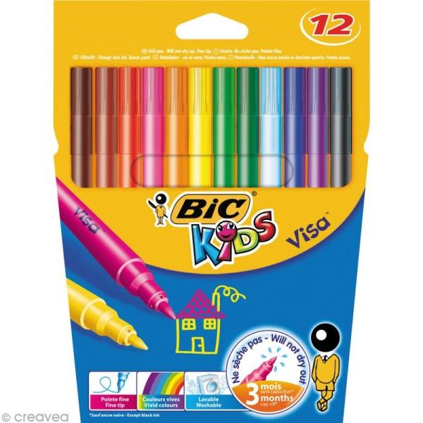 Feutres Bic Kids - Visa - 12 feutres - Photo n°1