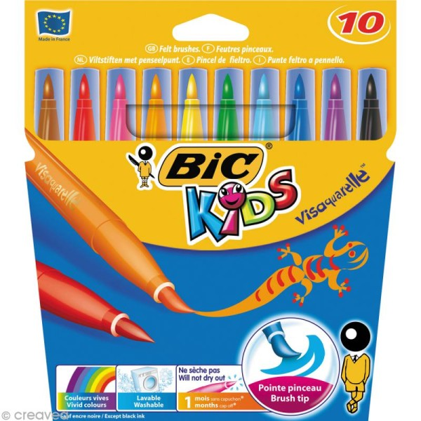 Feutres Bic Kids - Visa Aquarelle - 10 feutres - Photo n°1